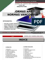 Normas Apa y Vancouver