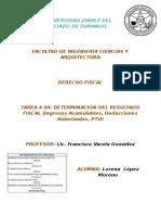 LlópezM Act04 DerechoFiscal DeterminacióndelResultadoFiscal