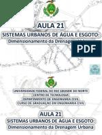 Aula 21 - Dimensionamento Da Drenagem Urbana (1)