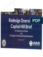 State Department presentation for Congress on departmental restructure