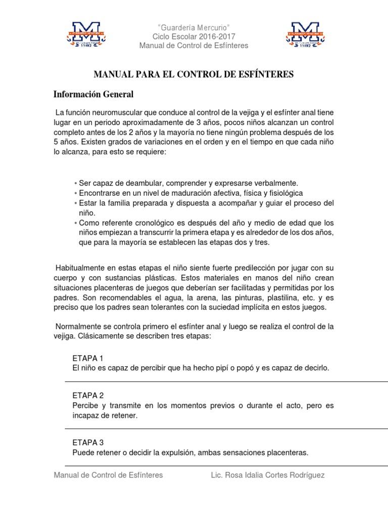 Manual Para El Control de Esfínteres