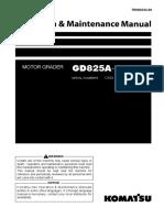 O&M GD825A-2 12503-UP TEN00334-00