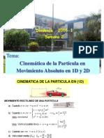Semana 2-2016-1 Cinematica de La Particula