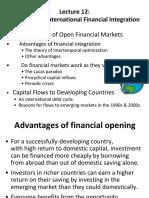 Benefits of International Financial Integration IIF
