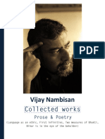 Vijay Nambisan - Collected Works