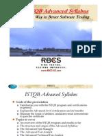 The ISTQB Advanced Syllabus