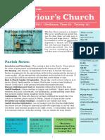 st saviours newsletter - 17 sept 2017
