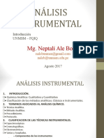 1ro ANALISIS INSTRUMENTAL INTRODUCCION 2017-I.ppt