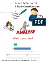 analysis and reflection of feedback from questionnaire pdf