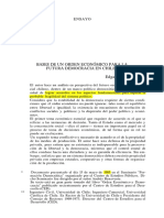 Boeninger, Bases de un orden económico para la futura democracia en Chile