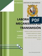 Laboratorio de procesos de manufactura Mecanismos de Transmisión