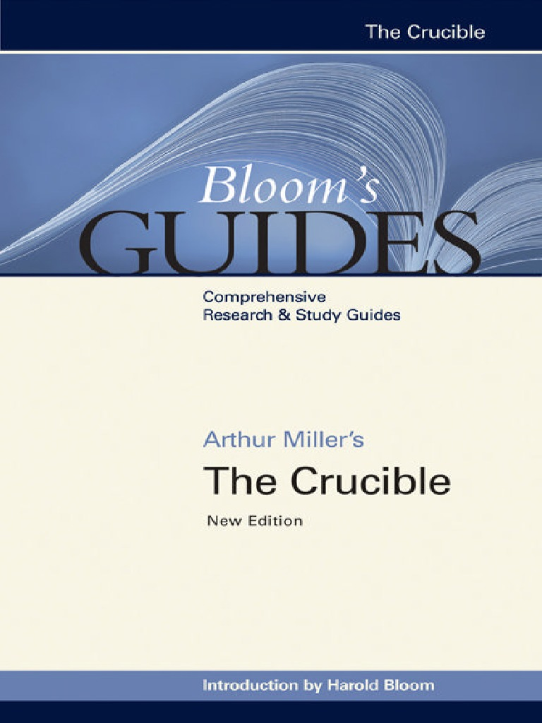 Harold Bloom Arthur Miller S The Crucible Bloom S Guides border=