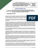 PLAN DE DEFENSA CIVIL I.E.I N° 640 AMPATAG