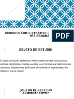 Derecho Administrativo II 1ra Semana
