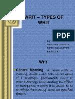 WRIT – TYPES OF WRIT.pptx