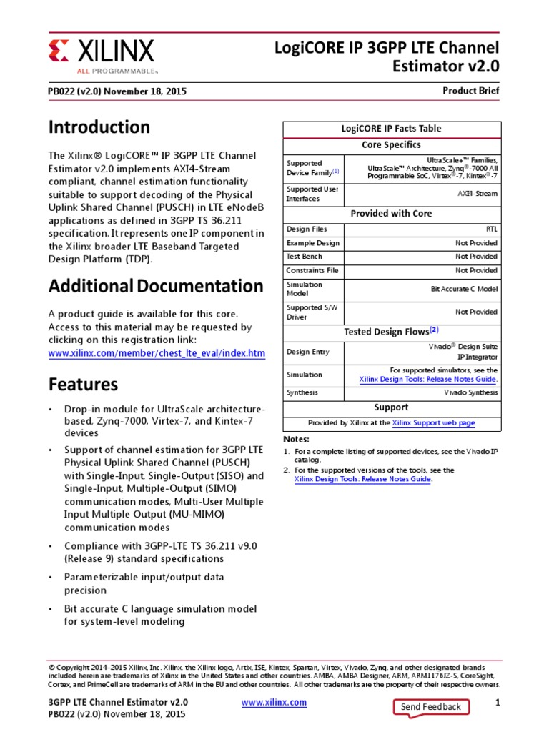 Pb022 3gpp Lte Channel Estimator | Intellectual Property