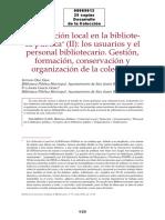 08009012 DIAZ GRAU y GARCIA GOMEZ - La colecci+¦n local en la biblioteca p+¦blica II. Los usuarios