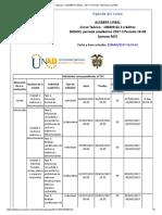 Agenda - Algebra Lineal - 2017 II Período 16-04 (Peraca 363)