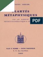 Raymond MERCIER - Clartés Métaphysiques