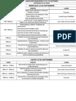 Agenda Expocundinamarca 13 Al 17 de Septiembre