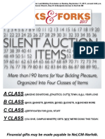 Folks & Forks 2017 Silent Auction Program Insert