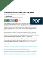 Air Canada Lança Low-cost Em Julho _ Viagem e Turismo