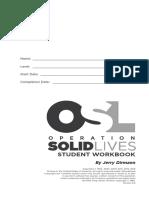 Operation Solid Lives Workbook