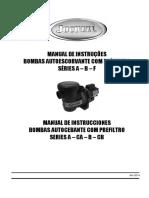 MANUAL INSTRUÇÕES DE BOMBAS DE RECIRCULAÇÃO DE PISCINAS