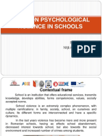 2014 Study on Psychological Violence in Romanian Schools