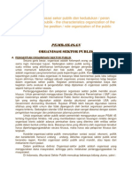 Karakteristik Organisasi Sekor Publik Dan Kedudukan