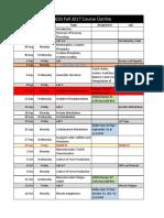 Schedule - Fall 2017 - Update 1