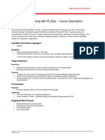 Programming PLSQL Course