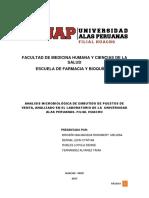Calidad Microbiológica de Productos Cárnicos Analizados en El Laboratorio de Microbiología de Alimentos