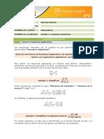 Tema 5 Fracciones Algebraicas