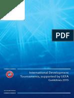 UEFA International Development Tournaments Guidelines 2015 Final