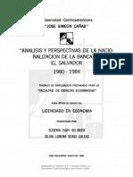 Tesis análisis y perspectivas de la nacionalización de la banca en El Salvador