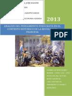 Análisis Del Pensamiento Fisiócrata en El Contexto Histórico Que Se Desarrollo La Revolución Francesa