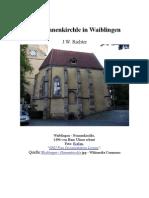 Das Nonnenkirchle in Waiblingen