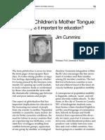 Bilingual Chierdren's mother tongue