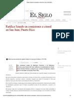 13-09-17 Ratifica Senado en comisiones a cónsul en San Juan, Puerto Rico