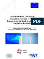 Assessment of the Potential of Wind Energy Along Black Sea