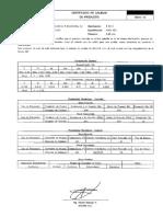 Certificado de Calidad e6011
