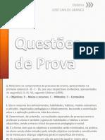 Questões de Prova - Livro Didática