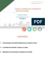 Presentación Andrés Blanco - Deficit Habitacional y Politica de Vivienda