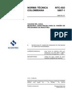 NTC-ISO 5667-01-1995. Directrices para el diseño de planes de muestreo.pdf