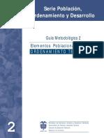 Guía Elementos Poblacionales Para Ordenamiento Territorial