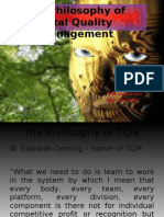 The Philosophy of TQM