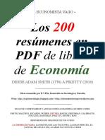 200 Libros de Resumen Sobre La Economia.