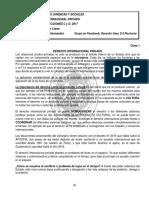 DERECHO INTERNACIONAL PRIVADO, Primer Parcial,  LIC. HOMERO LÓPEZ