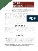 Convocatoria Licenciatura de Investigación Policial